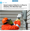 Smart meters linked to 13 fires in Ontario, Fire Marshal says