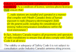 Canadian Wireless Telecommunication Association, Page 10 Highlighted Area