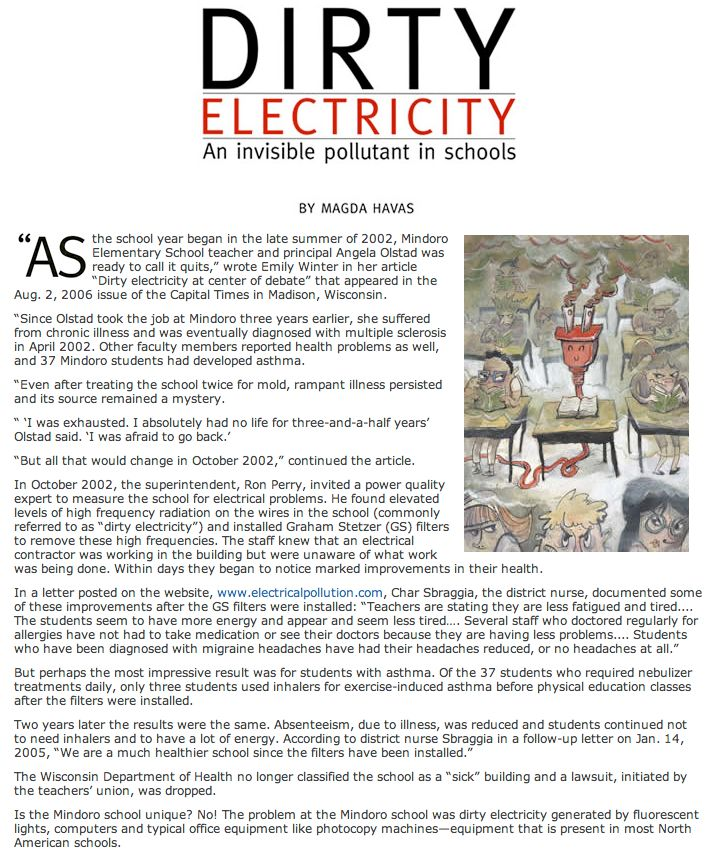 Dirty Electrcity in Schools p1