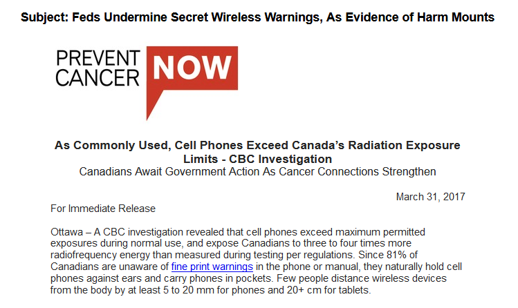 Feds Undermine Secret Wireless Warnings, As Evidence of Harm Mounts