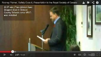 Rodney Palmer, Safety Code 6, Presentation to the Royal Society of Canada