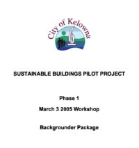 Kelowna Sustainable Building Pilot Project