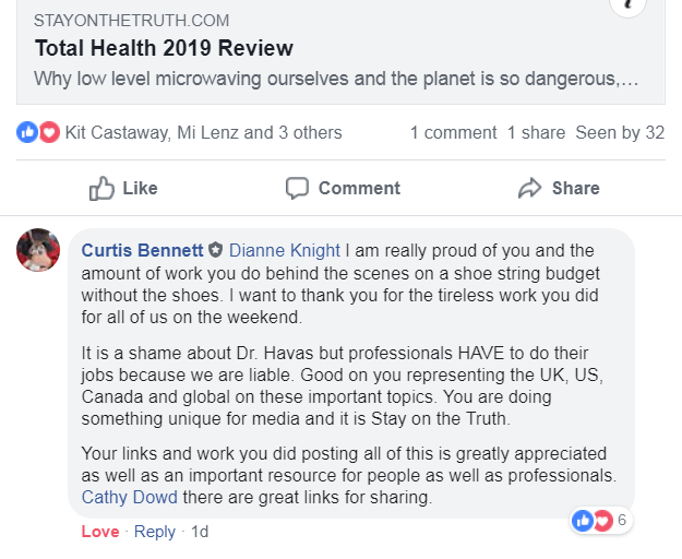 Professor Curtis Bennett's comment on IHF