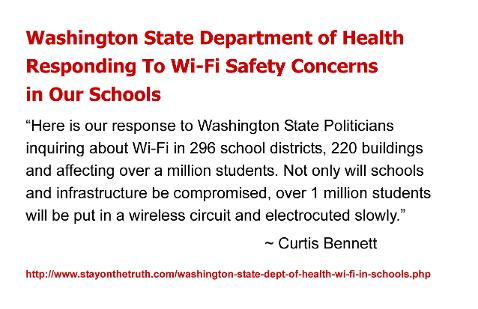 Washington State Department of Health Responding To Wi-Fi Safety Concerns in Our Schools