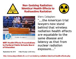Non-Ionizing Radiation: Identical Health Effects to Radioactive Radiation