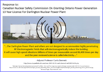 NUCLEAR FAILURE WITHIN BORDERS:  Darlington NOT compliant with Building Code Rule 4.1.3.6. Vibration