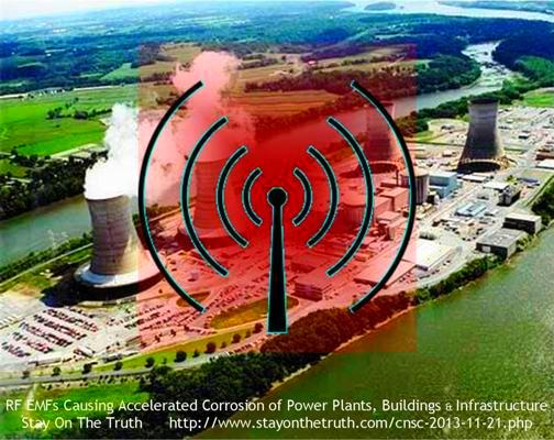 RF EMFs Causing Accelerated Corrosion of Power Plants, Buildings & Infrastructure