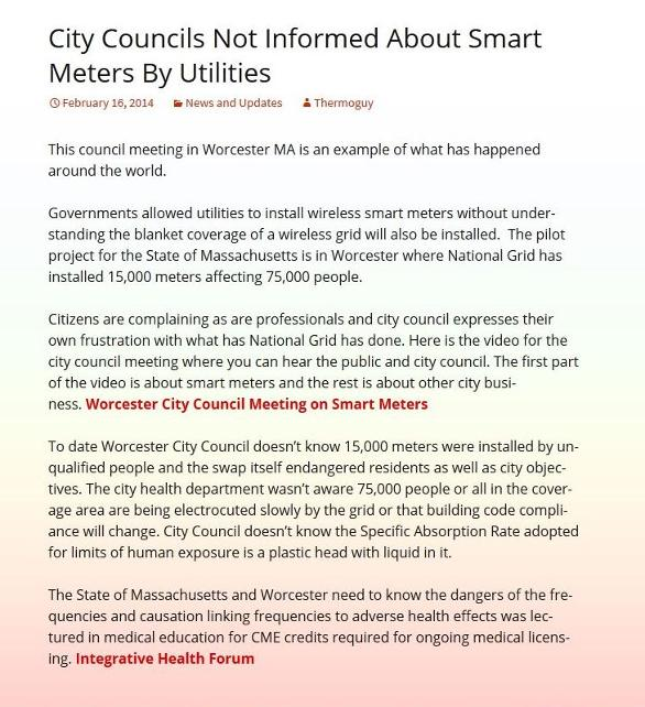 City Councils Not Informed About Smart Meters By Utilities